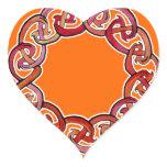 Celtic Fire Circle Heart Sticker