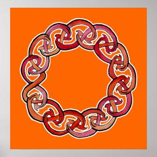 Celtic Fire Wheel Poster
