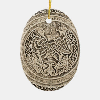 CELTIC FLAME -VINTAGE CELTIC DESIGN CERAMIC ORNAMENT