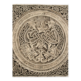 CELTIC FLAME -VINTAGE CELTIC DESIGN POSTCARD