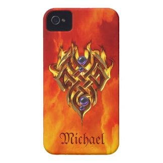 Celtic Flames Fire iPhone 4 Cover