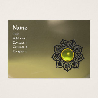 CELTIC FLOWER MONOGRAM AGATE grey yellow topaz Business Card