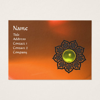 CELTIC FLOWER MONOGRAM AGATE orange yellow topaz Business Card