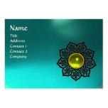 CELTIC FLOWER MONOGRAM blue aquamarine,  topaz Business Cards