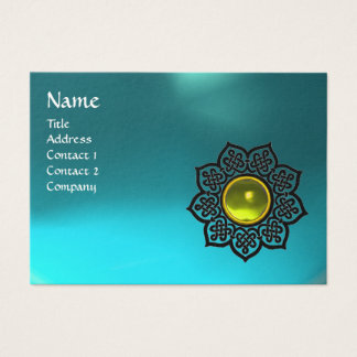 CELTIC FLOWER MONOGRAM blue aquamarine,  topaz Business Card