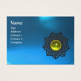 CELTIC FLOWER MONOGRAM blue sapphire,  topaz Business Card