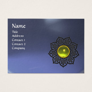 CELTIC FLOWER MONOGRAM blue yellow, topaz Business Card