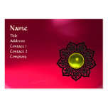 CELTIC FLOWER MONOGRAM pink ruby, yellow topaz Business Cards