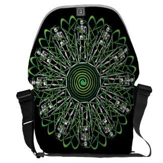 Celtic Flower of Death Courier Bag