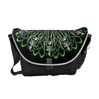 Celtic Flower of Death Courier Bags