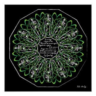 Celtic Flower of Death Poster