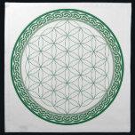 "Celtic Flower of Life Abundance Crystal Grid Napkin<br><div class=""desc"">Celtic Flower of Life Abundance Crystal Grid - A great template to place your crystals on to create abundance!</div>"
