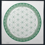 "Celtic Flower of Life Abundance Crystal Grid Napkin<br><div class=""desc"">Celtic Flower of Life Abundance Crystal Grid - A great template to place your crystals on to create abundance!</div>"