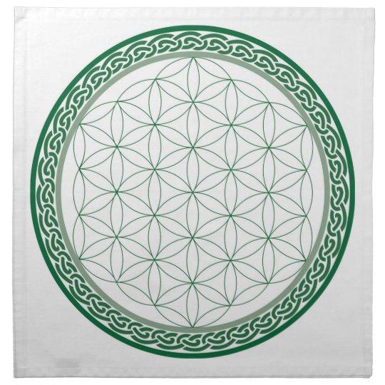 celtic flower of life abundance crystal grid napkin zazzle com