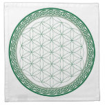 Celtic Flower of Life Abundance Crystal Grid Napkins