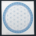 "Celtic Flower of Life for Communication Napkin<br><div class=""desc"">A perfect grid to arrange your crystals on for you to work on communication of any kind.  What do you want to say to the World!</div>"