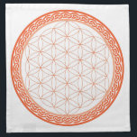 "Celtic Flower of Life for Creativity/Relationships Napkin<br><div class=""desc"">A beautiful grid to place your crystals on to help work with your Sacral Chakra,  which is related to creativity &amp; the relationships you have with people.</div>"