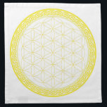 "Celtic Flower of Life for Self Esteem Napkin<br><div class=""desc"">A subtle coloured grid to place your crystals on to work with your Solar Plexus.  As the colour is subtle,  so you should be with working on giving love to yourself.</div>"