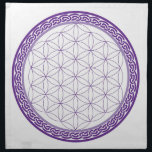 "Celtic Flower of Life grid for Psychic Work Napkin<br><div class=""desc"">Stunning Purple grid to place your crystals to work with your Third Eye Chakra.  What do you need some Inner Guidance with?</div>"