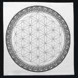 "Celtic Flower of Life Grid Napkin<br><div class=""desc"">Start manifesting with your crystals with the help of this Celtic Flower of Life Crystal Grid!</div>"