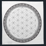 """Celtic Flower of Life Grid Napkin<br><div class=""""desc"""">Start manifesting with your crystals with the help of this Celtic Flower of Life Crystal Grid!</div>"""