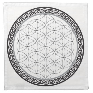 Celtic Flower of Life Grid Napkin