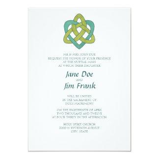 "Celtic Formal Catholic Wedding Invitation 5"" X 7"" Invitation Card"