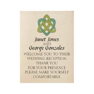 Celtic Formal Wedding Welcome Sign