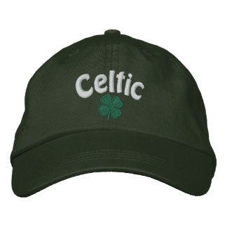 Celtic  - Four Leaf Clover - Customized Embroidered Baseball Hat