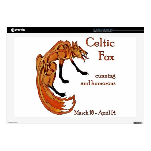 "Celtic Fox 17"" Laptop Skins"