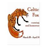 Celtic Fox Postcard