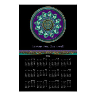 Celtic Fractal Mandala It's Your Time Calendar Perfect Poster