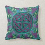 Celtic Fractal Mandala Throw Pillow