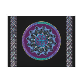 Celtic Fractal Mandala with Celtic Knot Chains Canvas Print