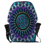 Celtic Fractal Radiant Cool Star Knot Courier Bag