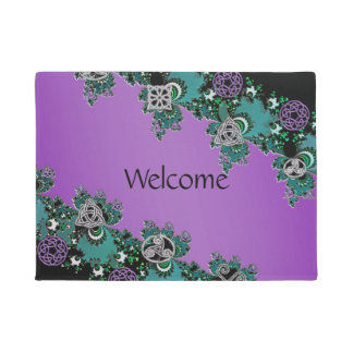 Celtic Fractal Welcome Mat