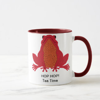 Celtic Frog Mug - red