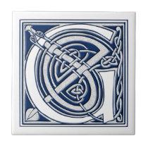 Celtic G Monogram Ceramic Tile