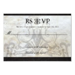 Celtic Gaelic Knot  Wedding RSVP Card