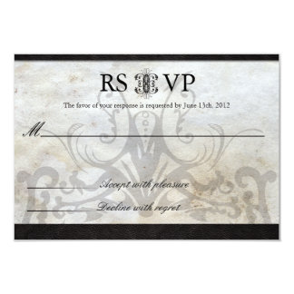 Celtic Gaelic Knot  Wedding RSVP Card