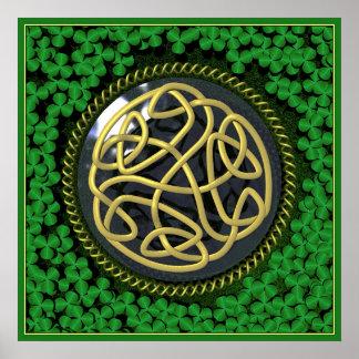 Celtic Garden Poster