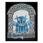 Celtic Gargoyle negative print