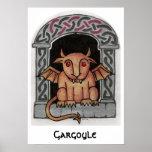 Celtic Gargoyle Print