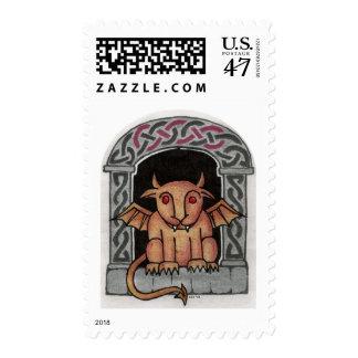 Celtic Gargoyle stamp