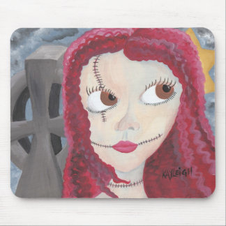 Celtic Girl in Graveyard Mouse Pad