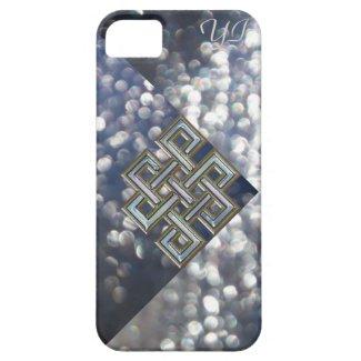 Celtic Glitter Monogrammed Fashion iPhone 5 Case.
