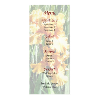 Celtic Glory Irises Wedding Menu
