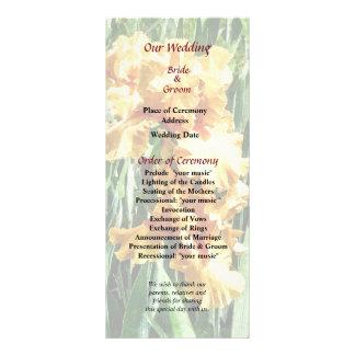 Celtic Glory Irises Wedding Program
