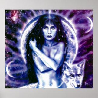 Celtic Goddess Hecate by Lisa Iris Poster