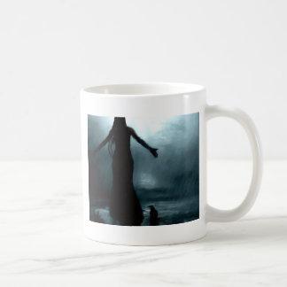 celtic goddess morrigan crow raven rain water coffee mug
